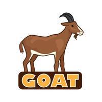 logotipo de cabra isolado no fundo branco vetor