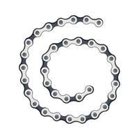 pulseira de correntes de prata isolada no fundo branco vetor