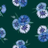 Padrão sem emenda floral abstrato. Fundo de flor de verão vetor