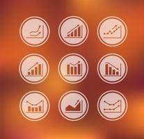 Vetor - ícones, com, tabelas, e, gráficos