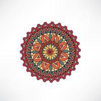 Elemento decorativo floral Oriental. Ornamento geométrico.
