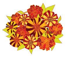 Buquê de flores. Quadro floral. Cartão de florescer. vetor