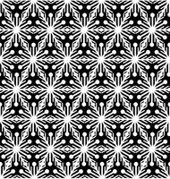 Padrão de telha de floco de neve Ornamento de feriado de inverno Textura geométrica