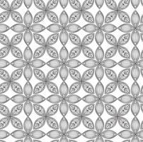 Padrão sem emenda floral. Ornamento linear. Fundo abstrato vetor