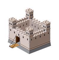 Fortaleza medieval vetor