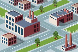 Distrito industrial vetor