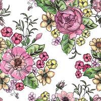 Floral fundo sem emenda. Padrão floral. vetor