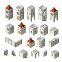 Edifícios medievais vetor