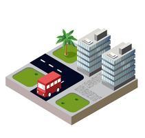 Casas e estradas vetor
