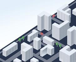 Cidade isométrica vetor