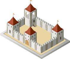 Vista isométrica de um medieval vetor