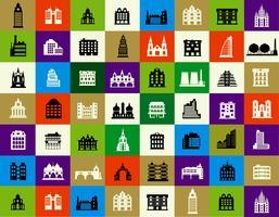 Silhuetas de edifícios da cidade