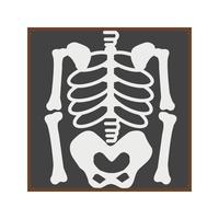 Ícone plano de esqueleto vetor