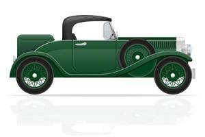 ilustração em vetor antigo carro retrô