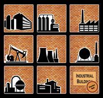 edifícios industriais vetor