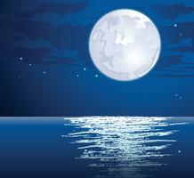 Vector iluminado pela lua