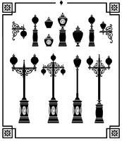 lâmpadas de rua vetor