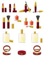 conjunto de ícones ilustração vetorial de cosméticos