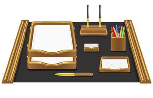 ilustração em vetor de papelaria escritório