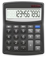 ilustração vetorial de calculadora vetor