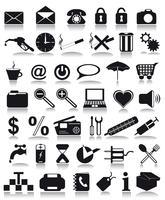 ícones pretos vetor