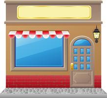 fachada de loja com uma vitrine vetor