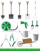 conjunto de ilustração vetorial de ferramenta de jardim