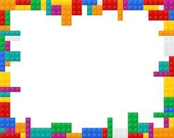 elementos de quadro uma vista do plano da ilustração vetorial de construtor de plástico colorido