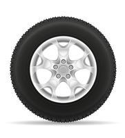 pneu de roda de carro da ilustração vetorial de disco