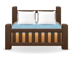 ilustração do vetor de mobília de cama de casal