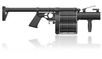 ilustração vetorial de granada-arma