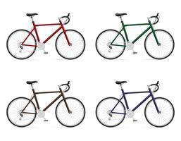 bicicletas de estrada com ilustração em vetor deslocamento de engrenagem