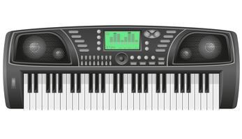 ilustração vetorial de sintetizador