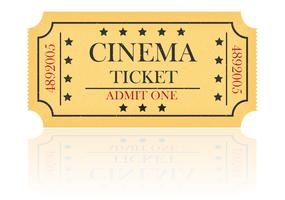 ilustração em vetor bilhete cinema