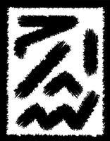 traços abstratos pretos de pinceladas para ilustração vetorial de design
