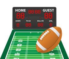 futebol americano ostenta ilustração em vetor placar digital
