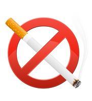 sinal proibindo fumar ilustração vetorial vetor
