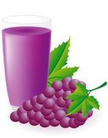 ilustração em vetor suco de uva azul