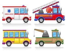 ícone de carro conjunto ilustração vetorial