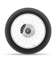pneu de roda da motocicleta da ilustração vetorial de disco