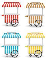 ilustração em vetor rua comida carrinho