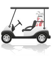 ilustração vetorial de carro de golfe