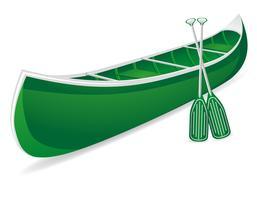 ilustração vetorial de canoa vetor