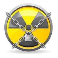 bloquear com correntes em uma ilustração do vetor de radiação de sinal