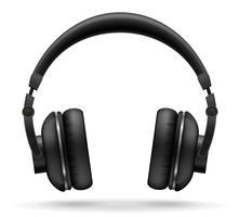 ilustração vetorial de fones de ouvido acústicos