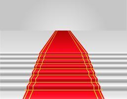 ilustração vetorial de tapete vermelho