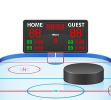 ilustração em vetor placar digital de esportes de hóquei