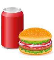 hambúrguer e refrigerante
