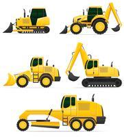 equipamento de carro para ilustração vetorial de obras de construção vetor
