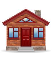 ilustração em vetor pequena casa de campo